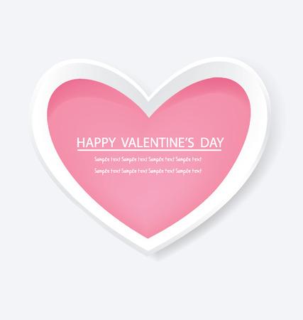 corazon rosa: Coraz�n rosa, D�a de San Valent�n ilustraci�n vectorial Vectores