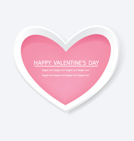 pink heart: Pink heart,  Valentines Day vector illustration