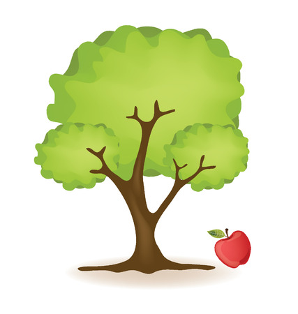 Apple tree vector illustration Vector