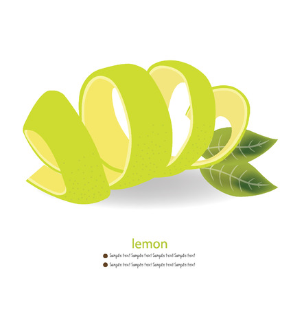 limon: Lemon peel vector illustration