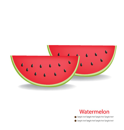 Watermelon vector illustration Stock Vector - 24862876