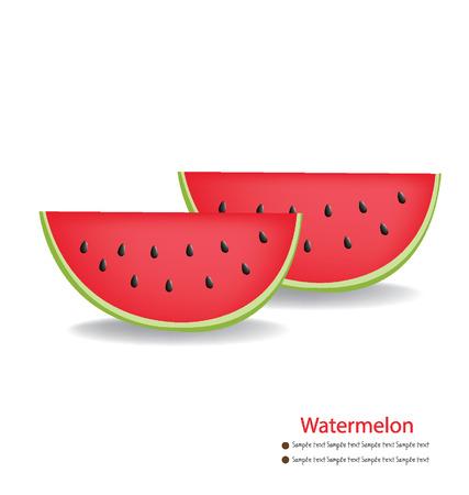 Watermelon vector illustration Stock Vector - 24862876