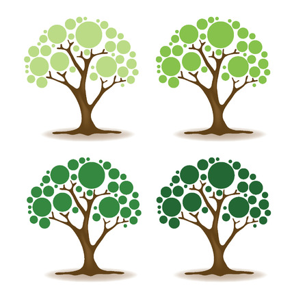 leaved: Vector tree illustration Illustration