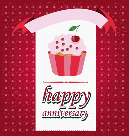 Card Template design, Cake vector illustration Vector