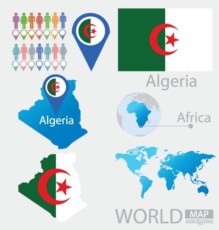 algeria: Algeria vector Illustration Illustration