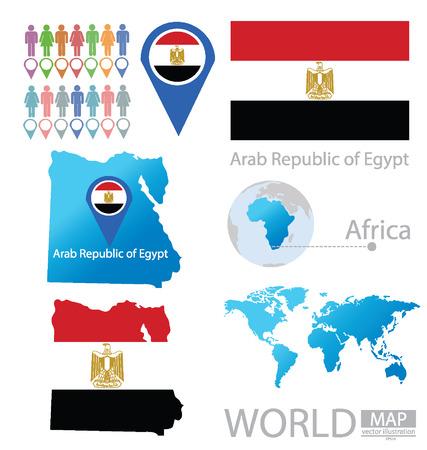 Rep�blica �rabe de Egipto vector Ilustraci�n