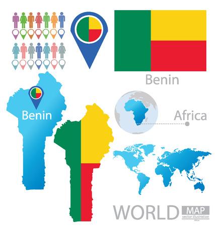 Republic of Benin vector Illustration