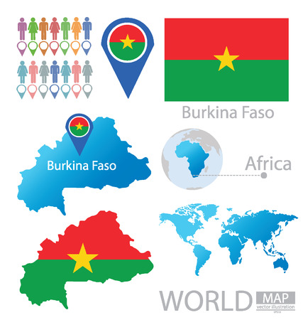 Burkina Faso vector Illustration  Vector