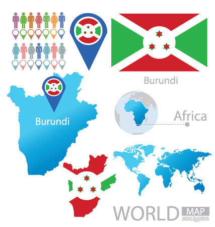 burundi: Burundi vector Illustration