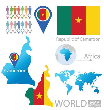 cameroon: Republic of Cameroon vector Illustration