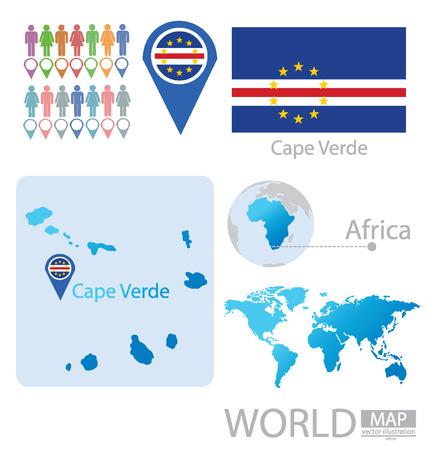 Cape Verde vector Illustration