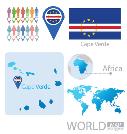 cape verde: Cape Verde vector Illustration