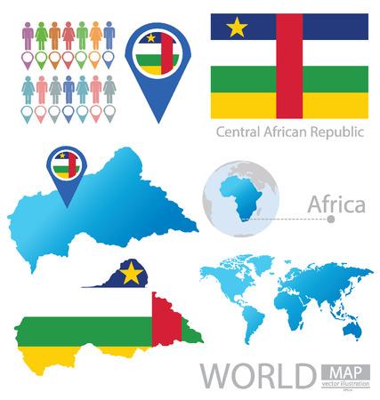 central african republic: Central African Republic vector Illustration