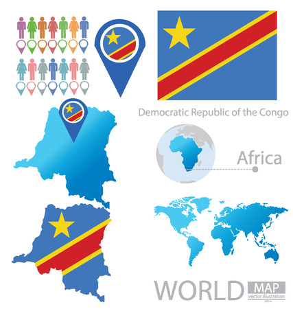 Democratic Republic of the Congo vector Illustration  Vector