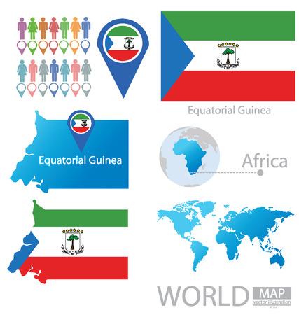 guinea equatoriale: Guinea Equatoriale illustrazione vettoriale