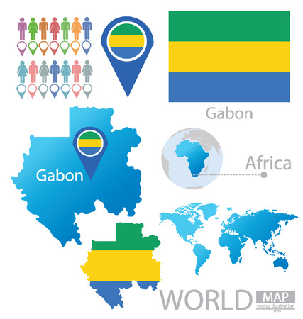 gabon: Gabon vector Illustration