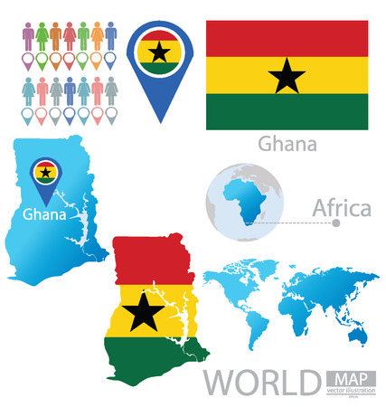 ghana: R�publique du Ghana vecteur Illustration Illustration