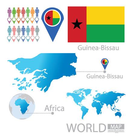 guinea bissau: Republic of Guinea-Bissau vector Illustration