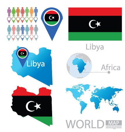 Libya vector Illustration Vector