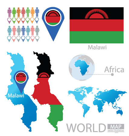 Republic of Malawi vector Illustration  Vector