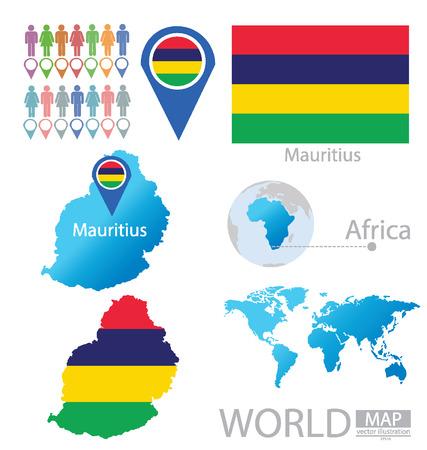 mauritius: Republic of Mauritius vector Illustration