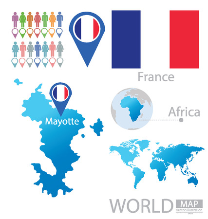 mayotte: Mayotte vector Illustration