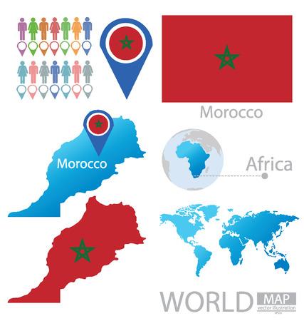 land mark: Morocco vector Illustration