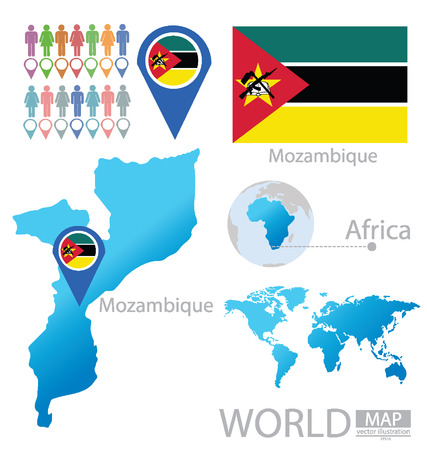 Republic of Mozambique vector Illustration Vector