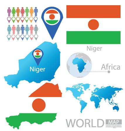 niger: Republic of Niger vector Illustration