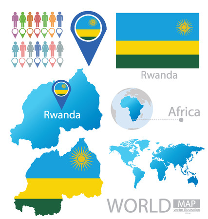 rwanda: Republic of Rwanda vector Illustration Illustration