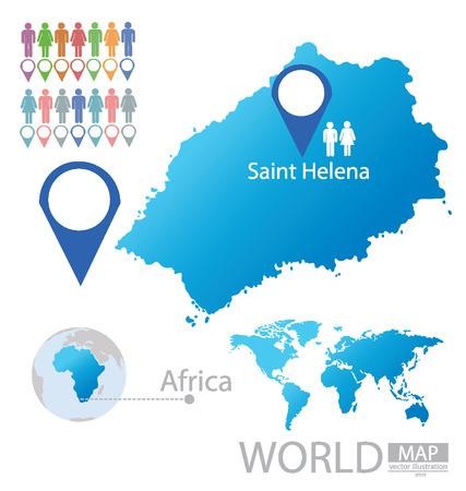 helena: Saint Helena vector Illustration  Illustration