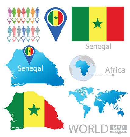Senegal vector Illustration  Vector