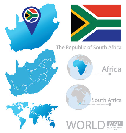 South Africa vector Illustration Vector