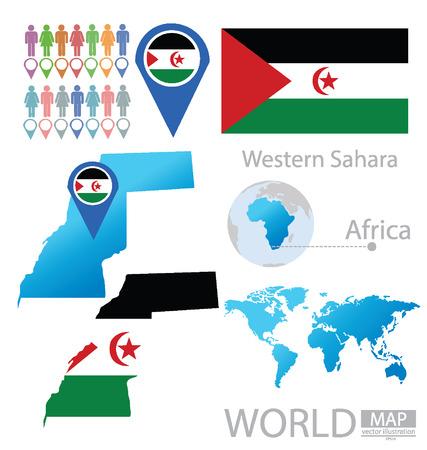 Western Sahara vector Illustration Vector