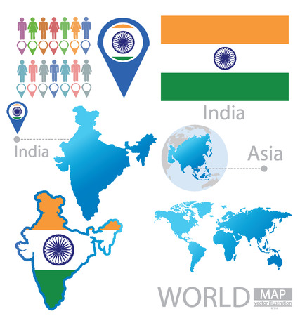 Republic of India vector Illustration