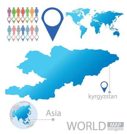 kyrgyzstan: Kyrgyzstan vector Illustration
