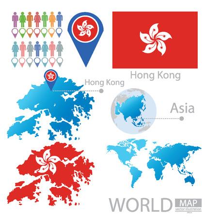 Hong Kong векторные иллюстрации Иллюстрация