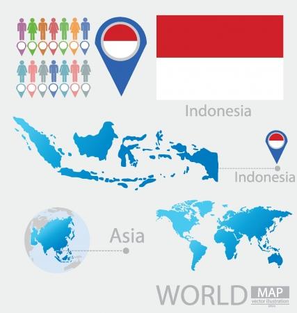 Индонезия векторные иллюстрации Иллюстрация