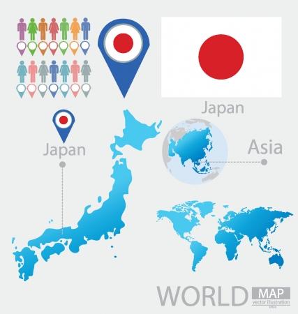 Япония векторные иллюстрации Иллюстрация