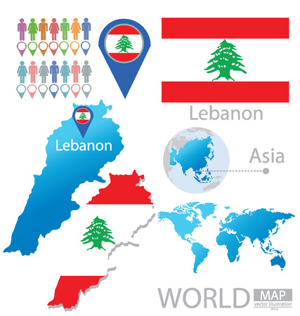 República del Líbano vector Ilustración