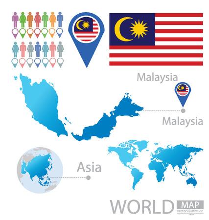 Malaysia vector Illustration Vector