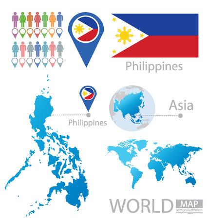 Республика векторные иллюстрации Филиппины