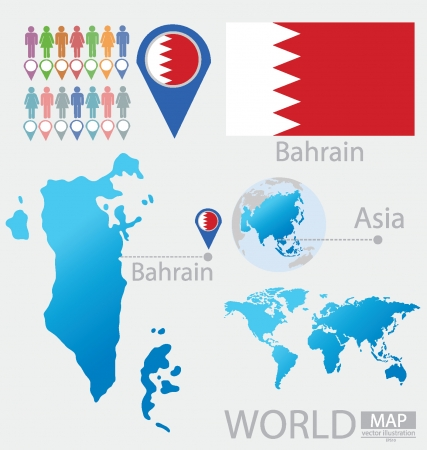 Kingdom of Bahrain vector Illustration Illustration