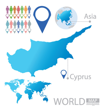 cyprus: Republic of Cyprus vector Illustration