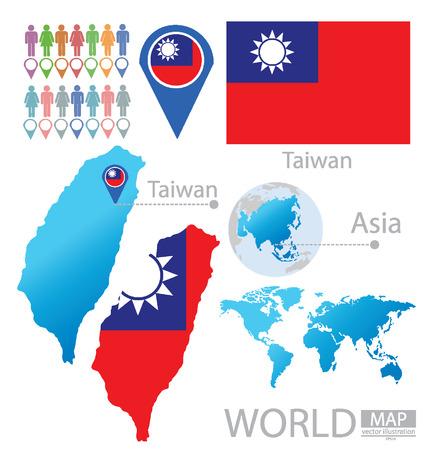 Тайвань векторные иллюстрации Иллюстрация