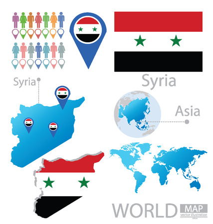 Syria vector Illustration Vector