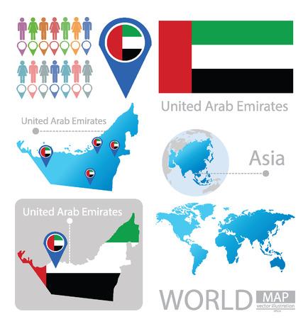 Emiratos Árabes Unidos vector Ilustración Ilustración de vector