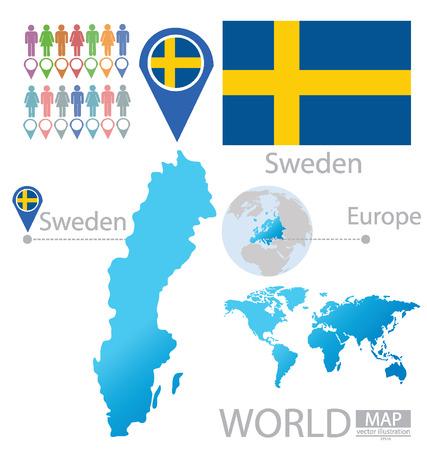 education in sweden: Kingdom of Sweden vector Illustration