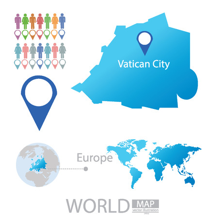 land mark: State of the Vatican City vector Illustration