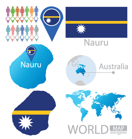 Republic of Nauru vector Illustration Vector